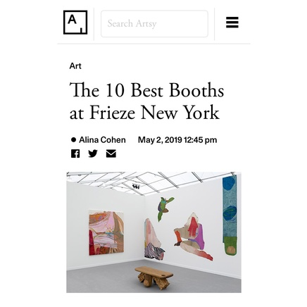 Artsy | The 10 Best Booths at Frieze New York
